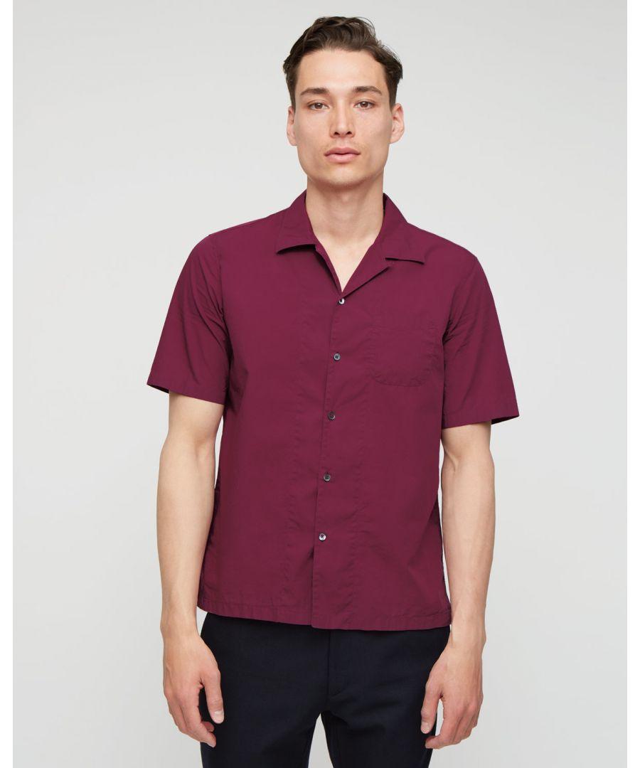 Image for Garment Dye Fine Poplin Short Sleeve Shirt