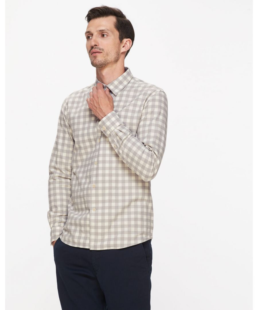 Image for Mouline Check Slim Shirt