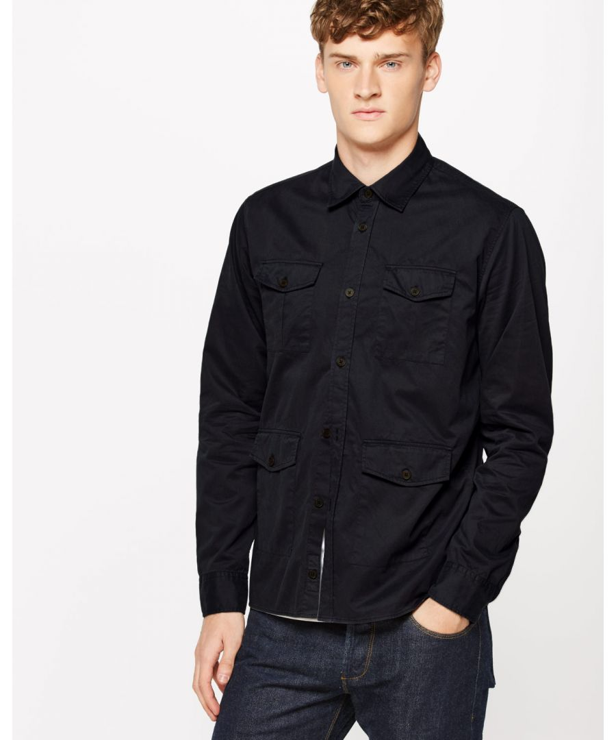 Image for Garment Dye Military Overshirt