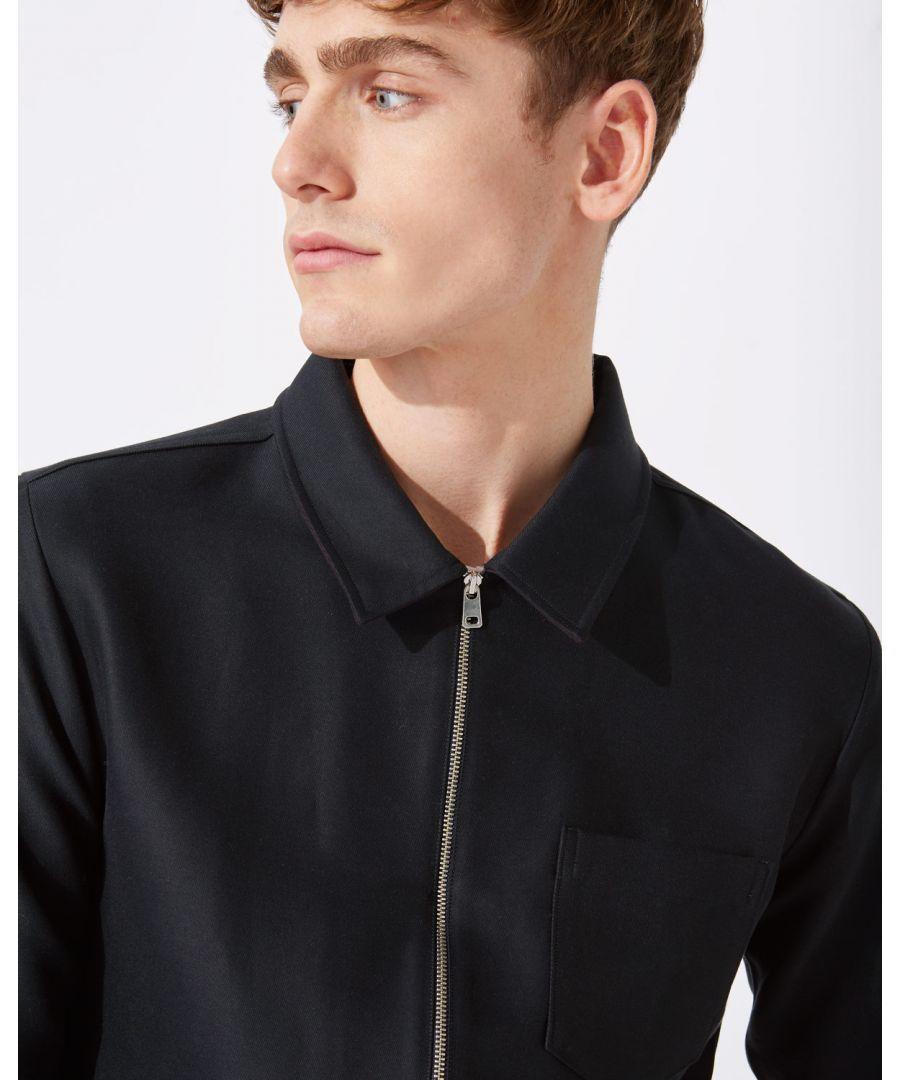 Image for Italian Zip Through Overshirt