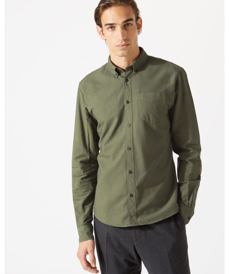 Image for Garment Dye Oxford Button Down Shirt
