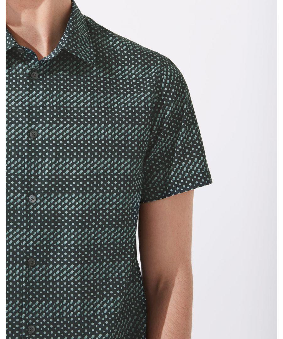 Image for Displaced Dot Print Short Sleeve Shirt