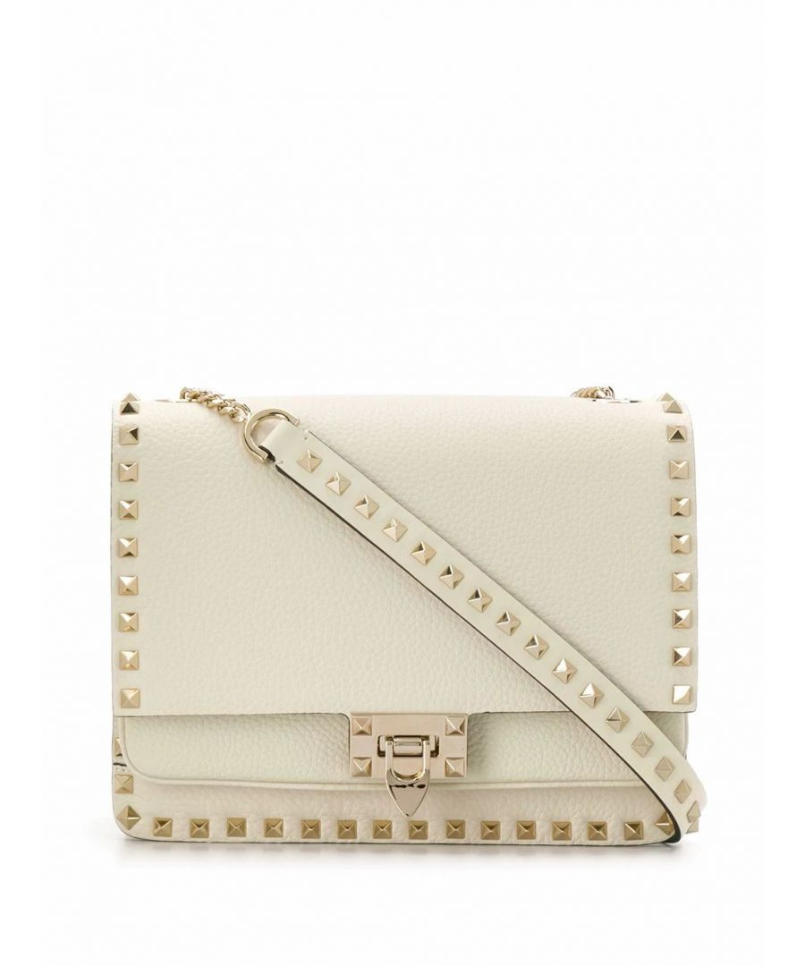 Image for VALENTINO WOMEN'S TW2B0F43CWZI16 WHITE LEATHER SHOULDER BAG