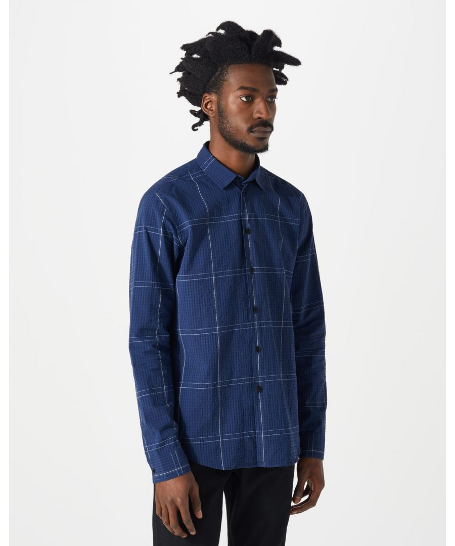 Image for Seersucker Large Check Shirt