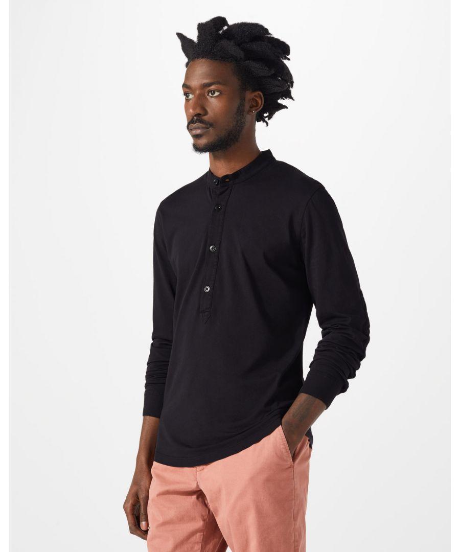 Image for Garment Dye Long Sleeve Henley