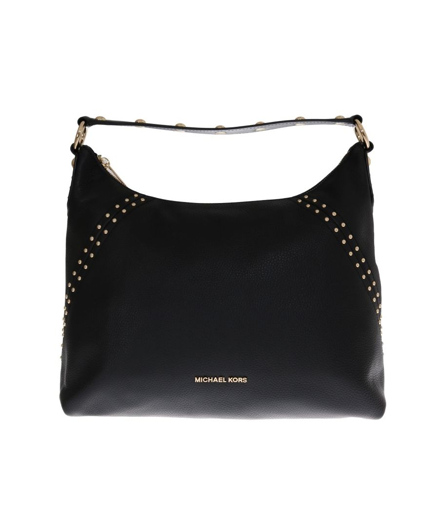 Image for Michael Kors Black ARIA Leather Shoulder Bag