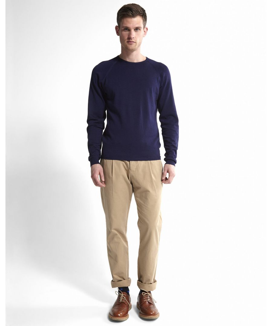 Image for Pima Cotton Raglan Crew Neck Jumper