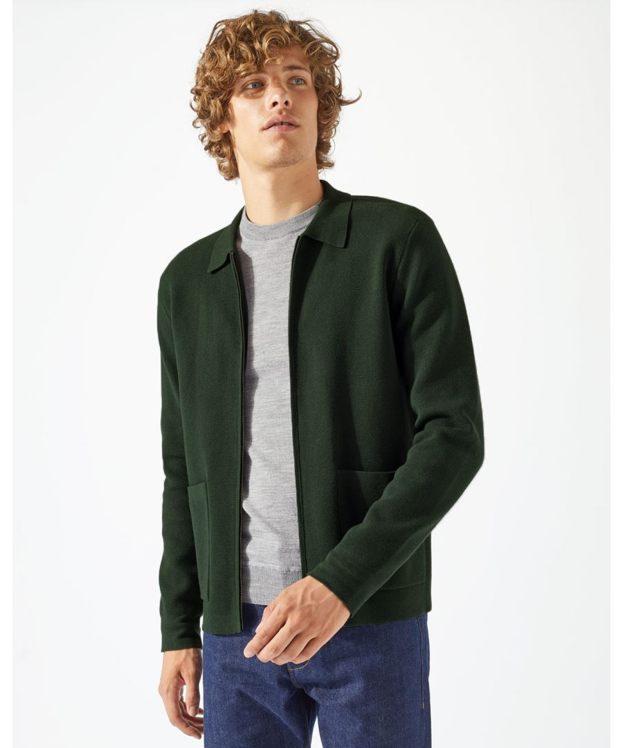 Image for Cotton Milano Zip Through Jacket