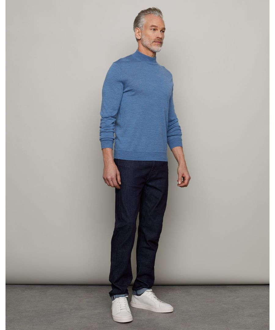 Image for Fine Gauge Merino Mock Neck Jumper