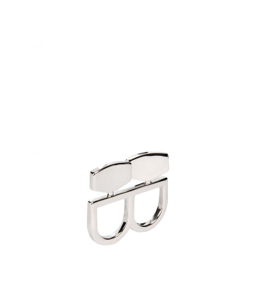 Image for MM6 Maison Margiela Silver Brass Double Ring