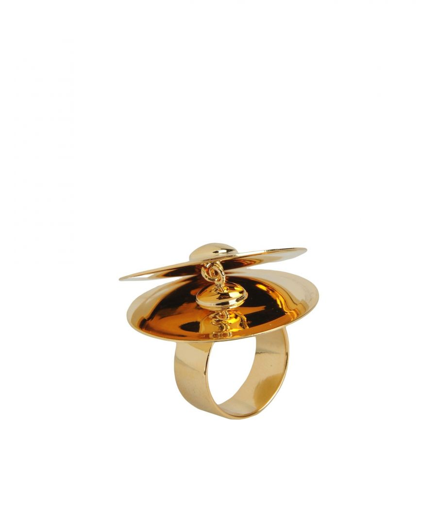 Image for MM6 Maison Margiela Gold Brass Ring
