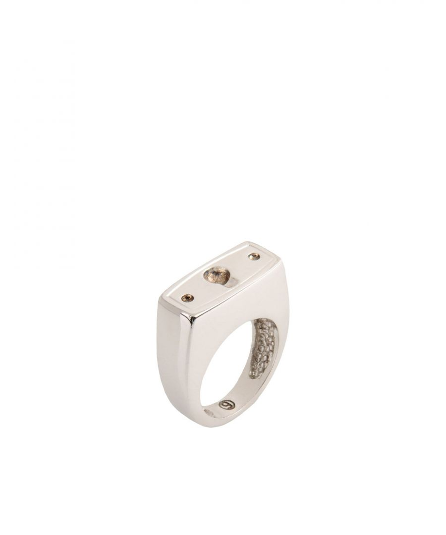 Image for MM6 Maison Margiela Silver Brass Ring