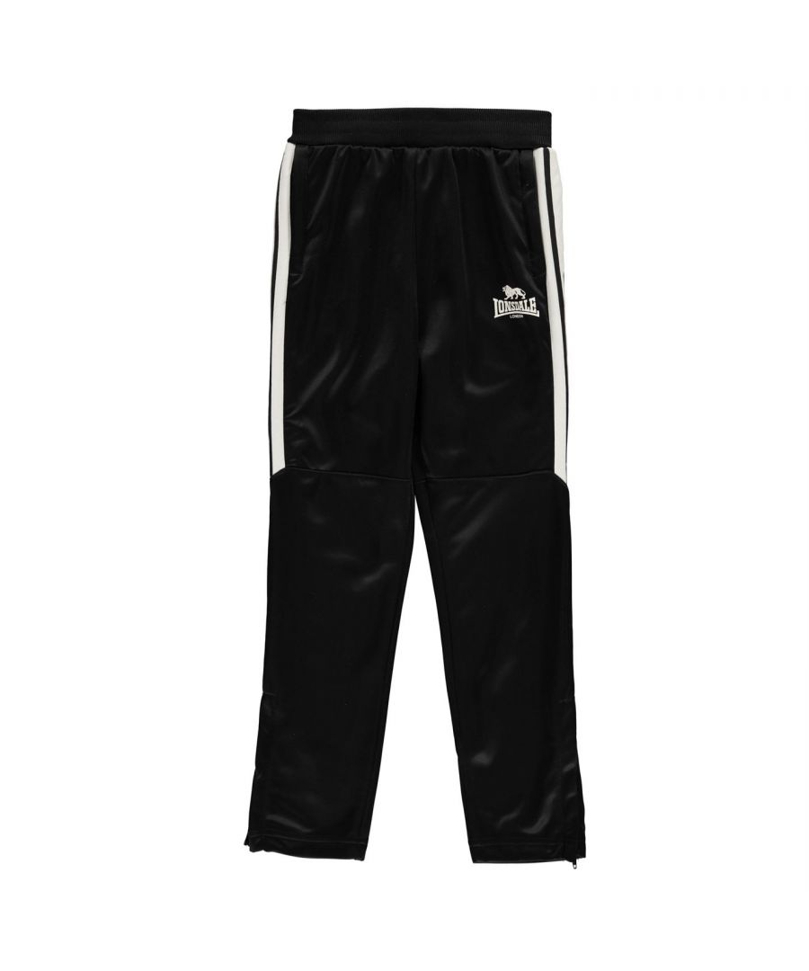 Image for Lonsdale Boys Kids 2 Stripe Tapered Bottoms Sports Trousers Tracksuit Pants