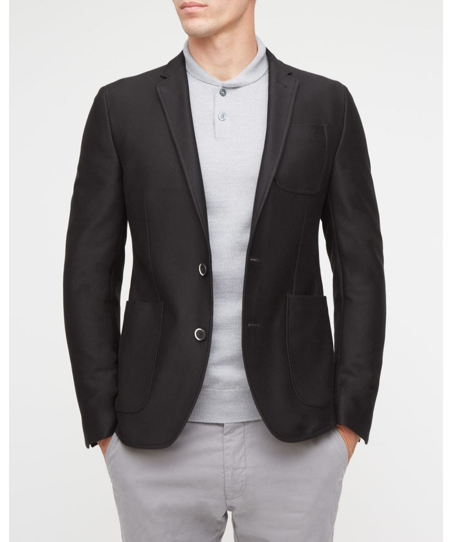 Image for Milano Cotton 2 Button Patch Blazer