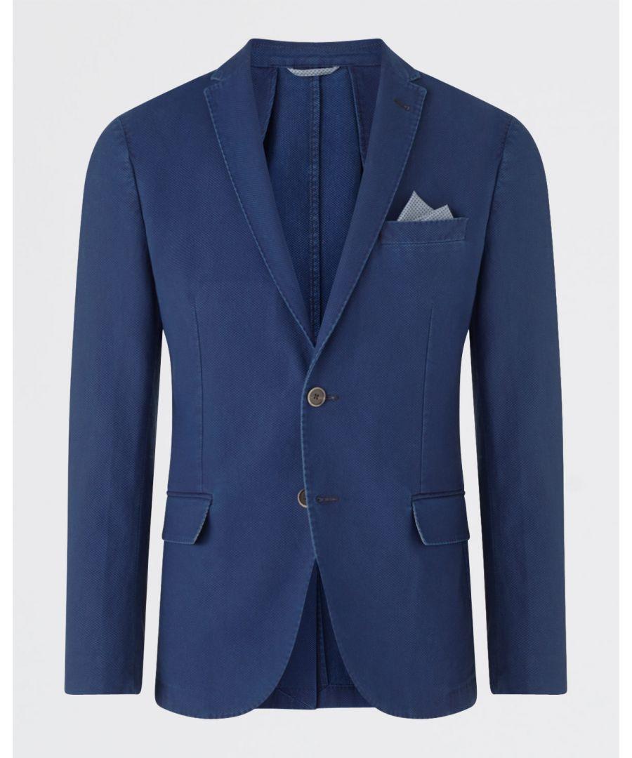 Image for Indigo Pique Slim Jacket