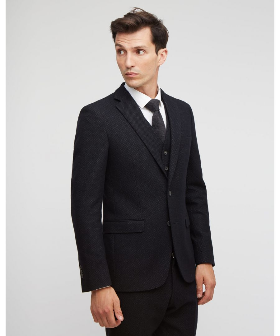 Image for Melange Check Two Button Suit Jacket