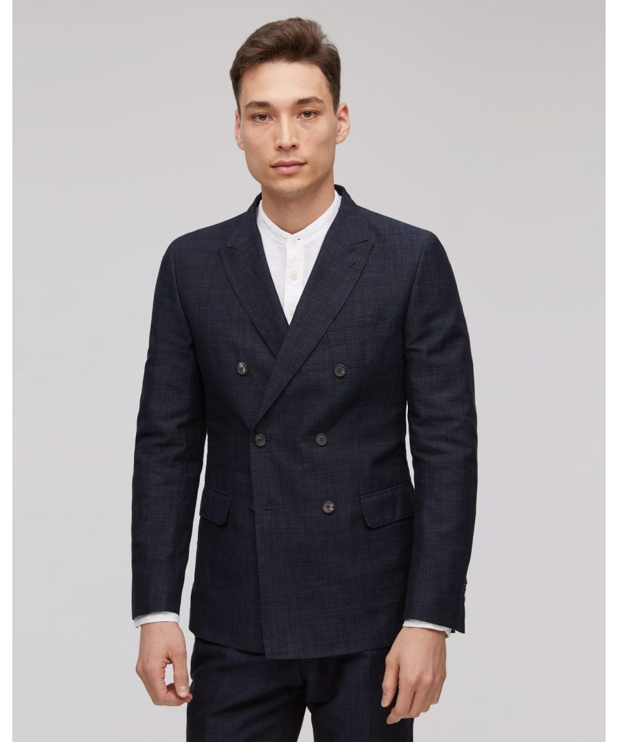 Image for Linen Jacquard Tailored Jacket