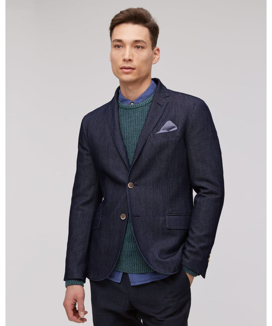 Image for Indigo Jacquard 2 Button Jacket