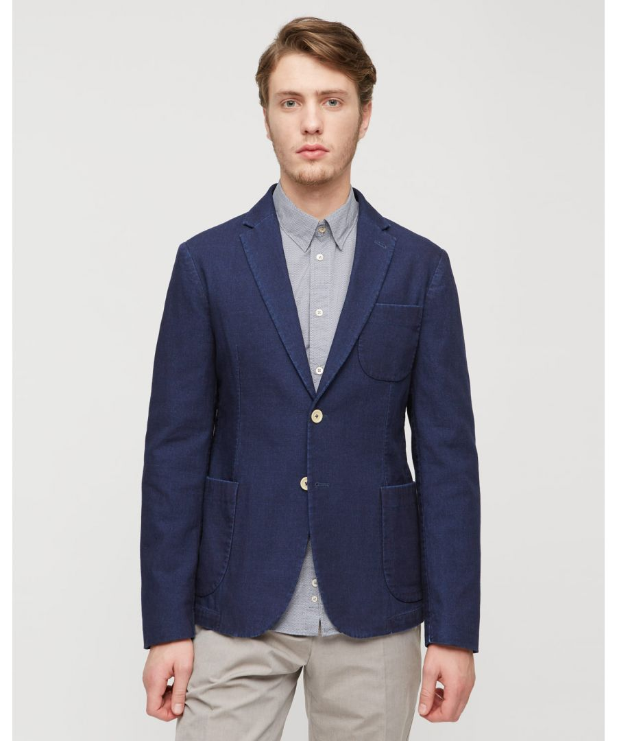 Image for Double Indigo 2 Button Jacket