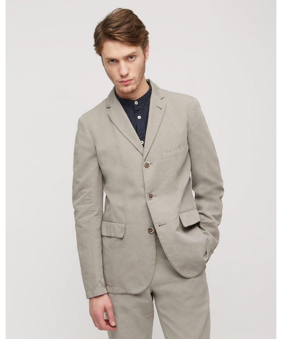 Image for Cotton Linenen 3 Button Jacket