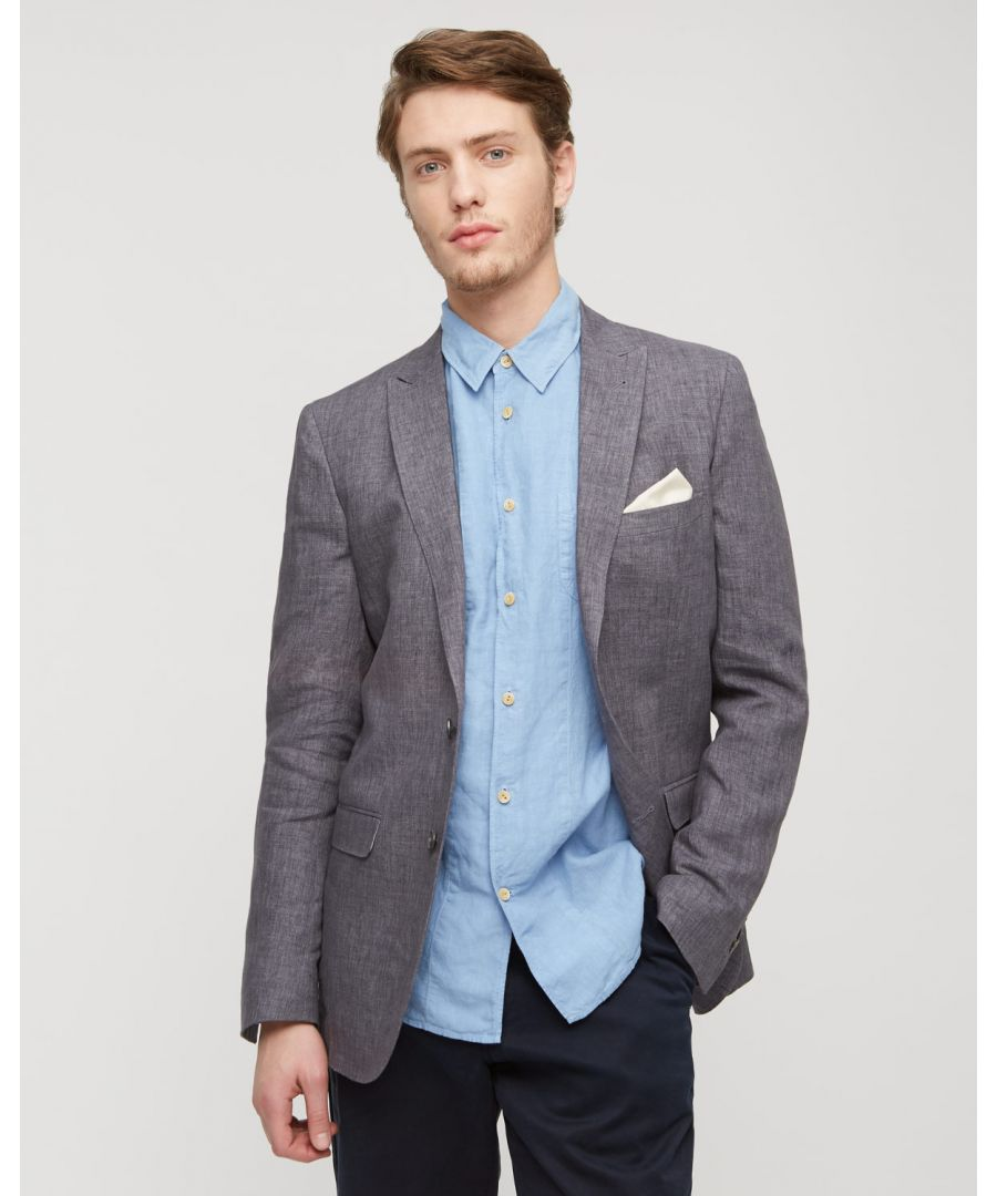 Image for Linen Melange 2 Button Tail Jacket