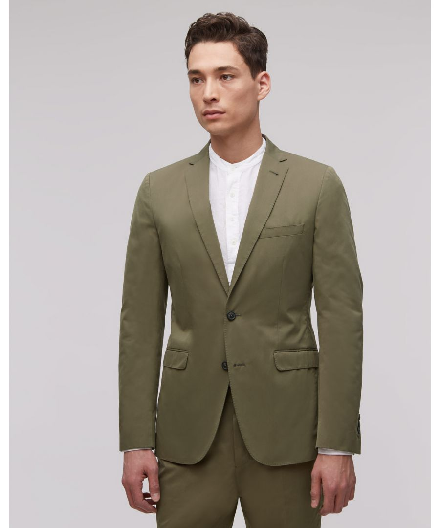 Image for Fine Cotton Twill Two Button Tailored Jacket