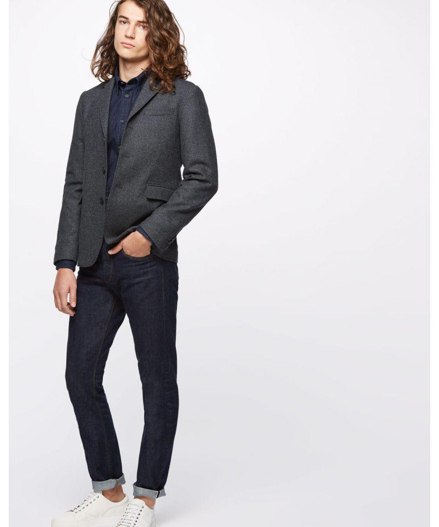 Image for Washed Wool Notch Jacket