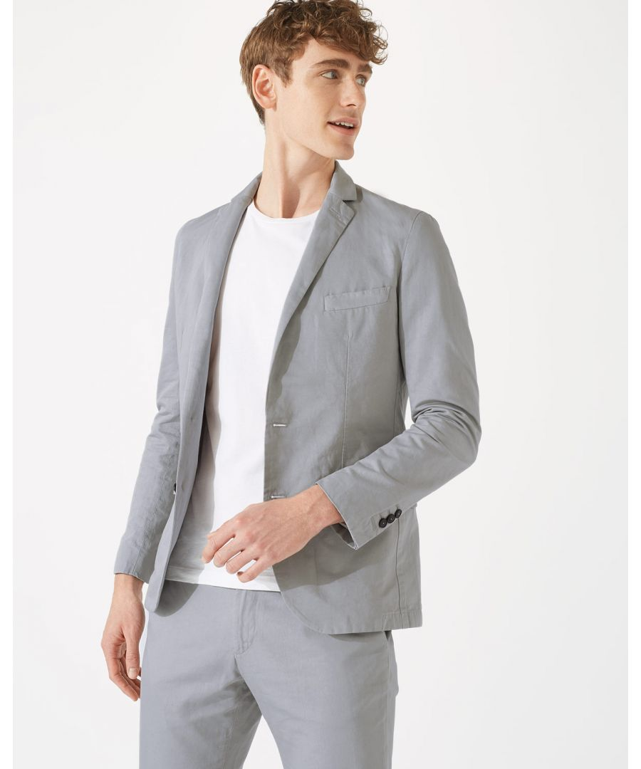 Image for Cotton Linenen Garment Dye Jacket