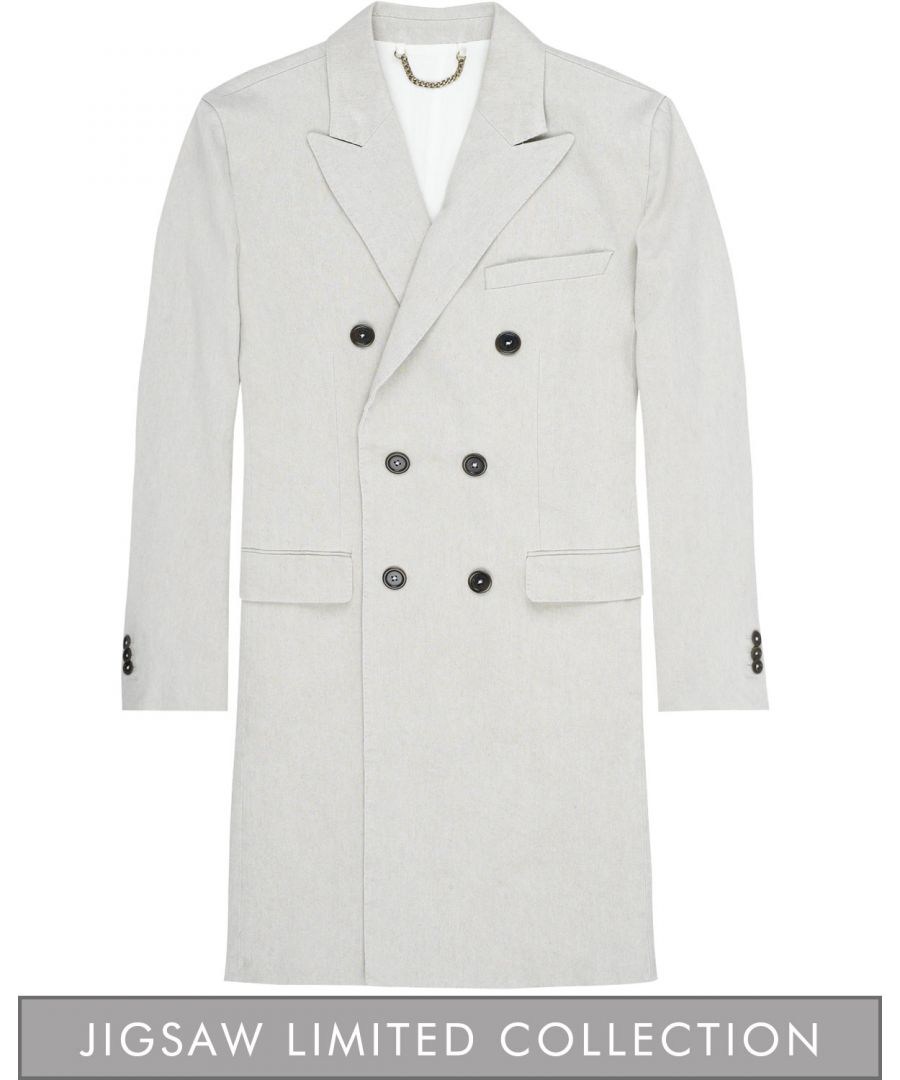 Image for Linen Cotton Twill Seledge Coat