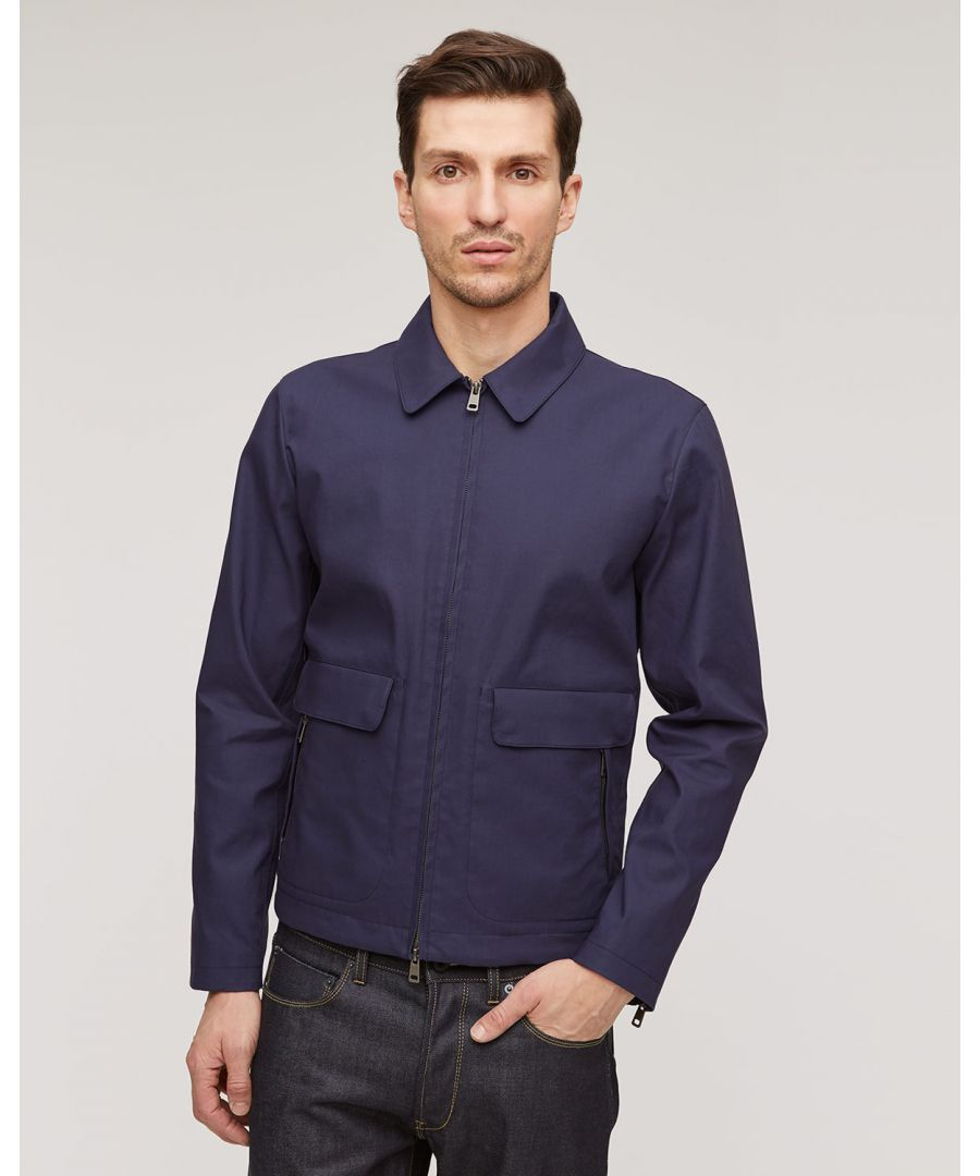 Image for Proofed Cotton Double Face Harrington Overcoat