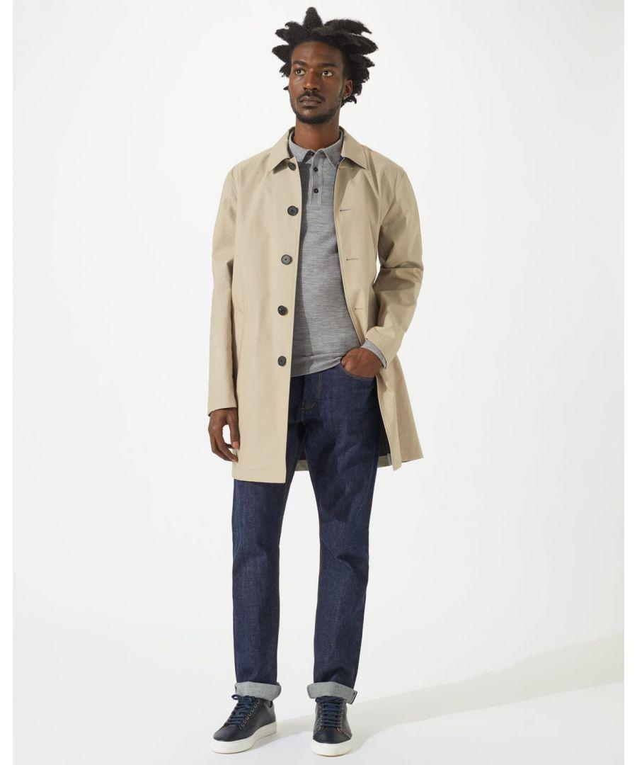 Image for Italian Cotton Bonded Mac Coat