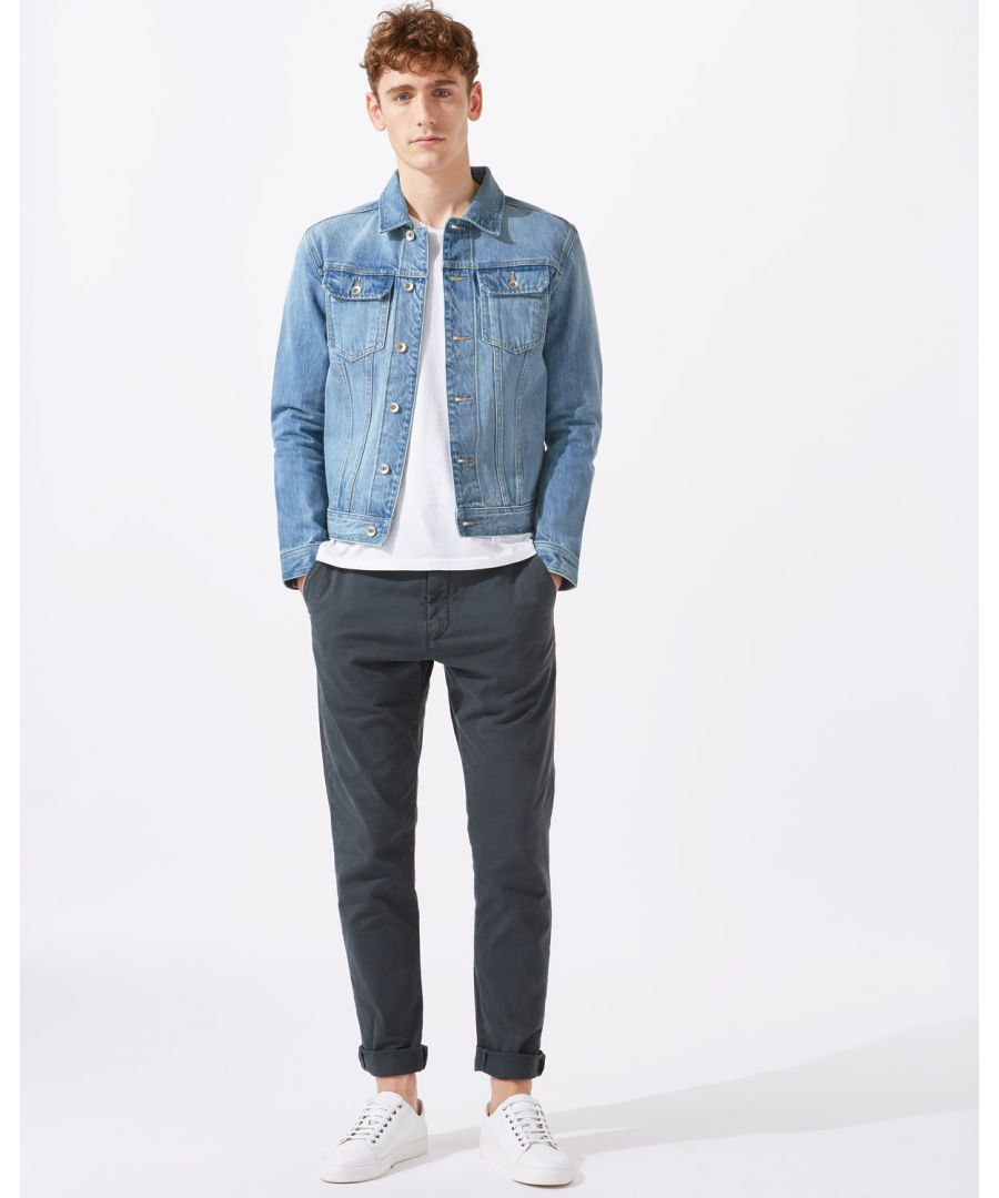 Image for Japan Selvedge Stonewash Denim Jacket