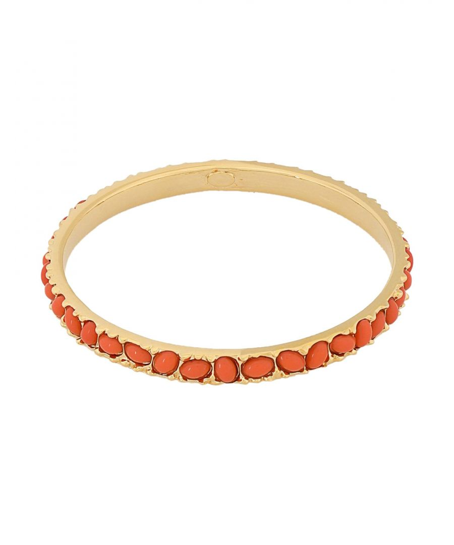 Image for Kenneth Jay Lane Orange Gold Plated Bracelet
