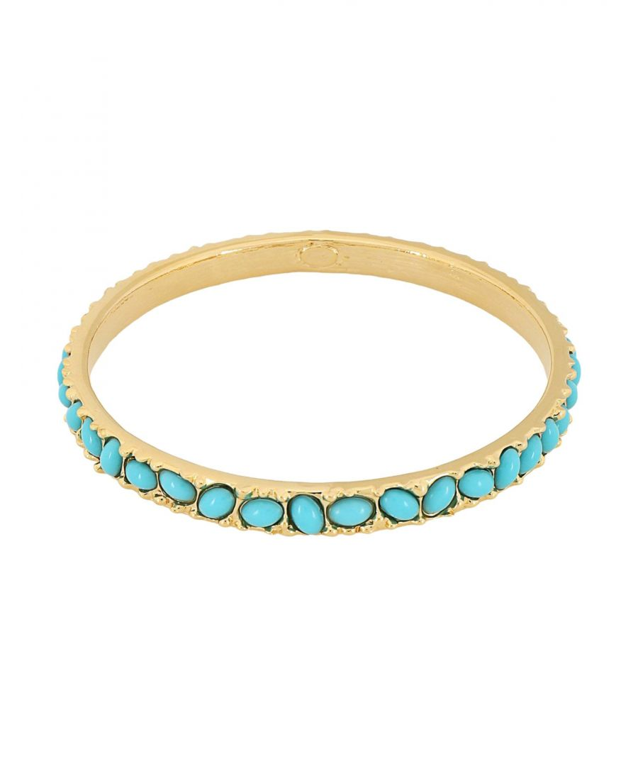 Image for Kenneth Jay Lane Turquoise Gold Plated Bracelet