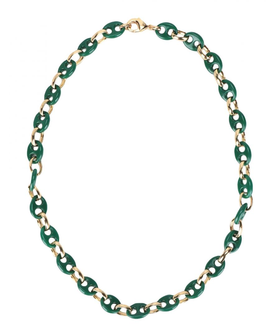 Image for Gogo Philip Green Resin Chain Necklace