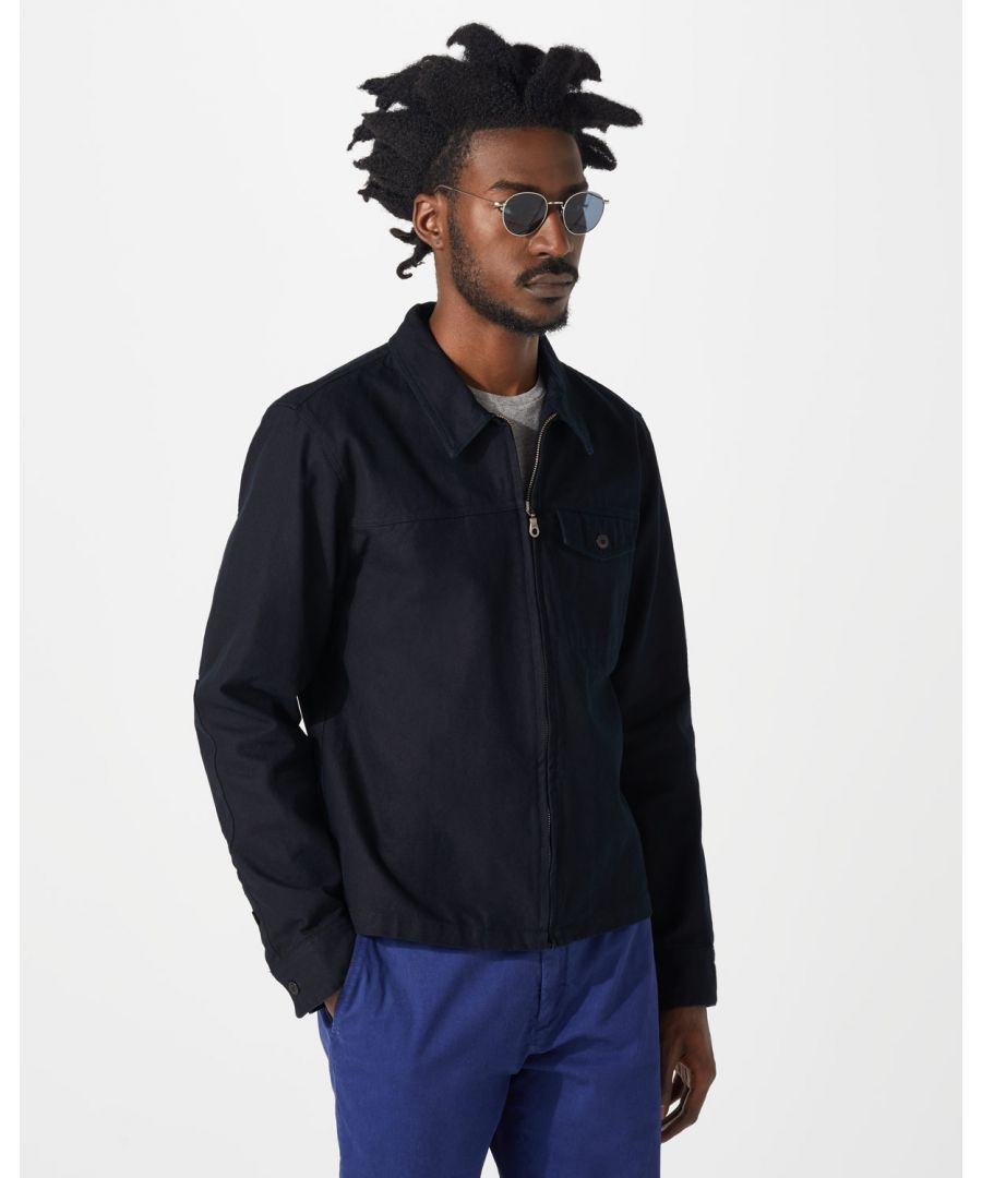 Image for Canvas Zip Through Blouson
