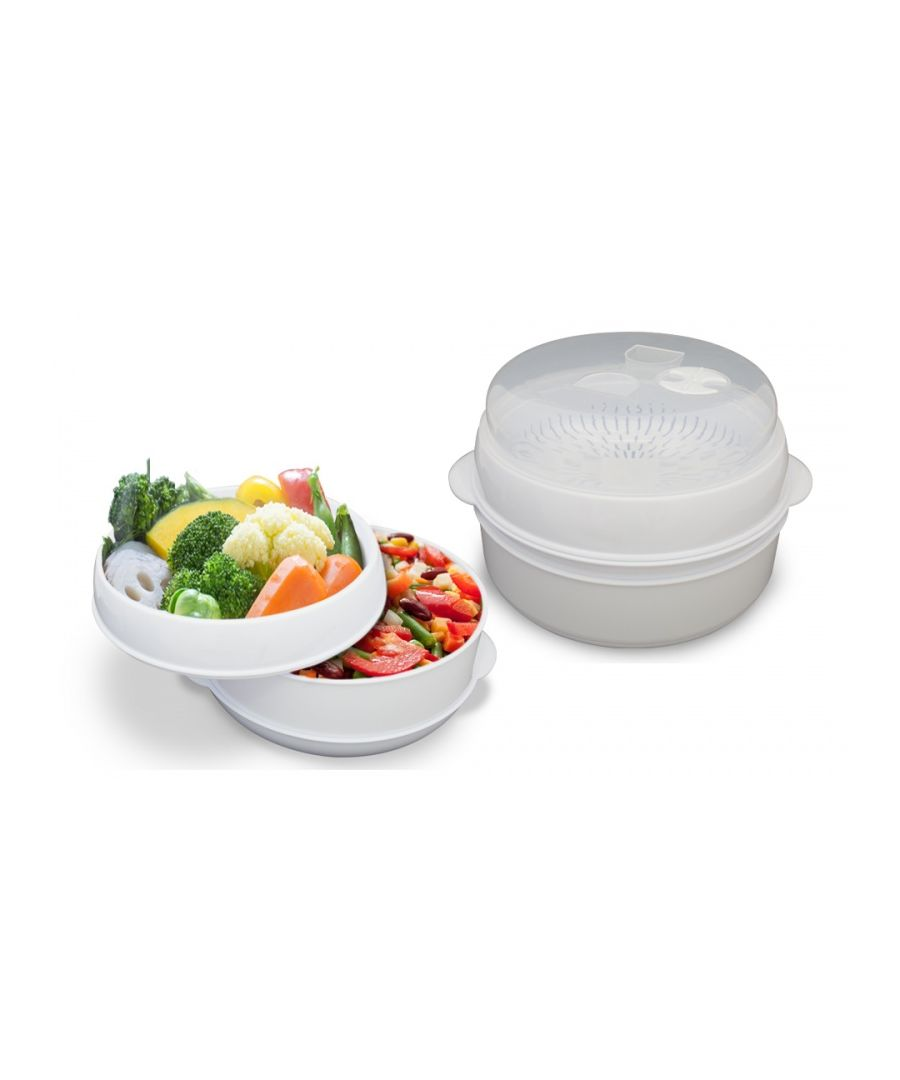 Image for Two Tier Microwave Steamer