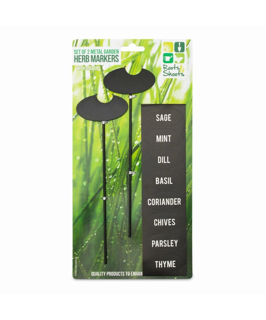 Image for Metal Garden Herb Markers with Stickers Set of 2