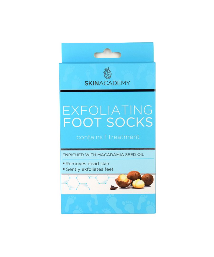 Image for Skin Academy Exfoliating Foot Socks Enriched With Macadamia Seed Oil