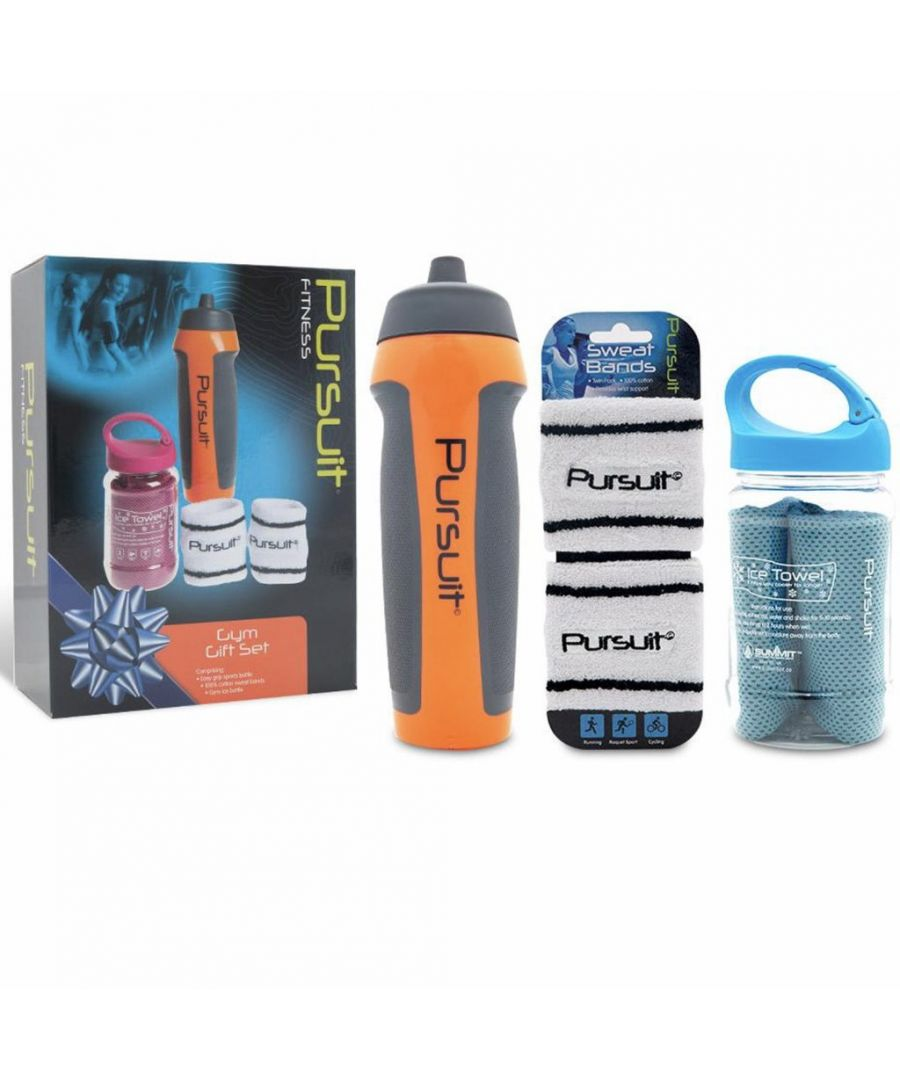 Image for Summit Pursuit Fitness Gym Gift Set - Orange/Blue