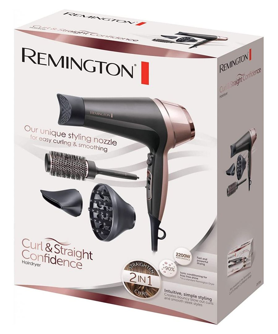 Image for Remington Curl and Straight Confidence Hairdryer with Accessories D5706