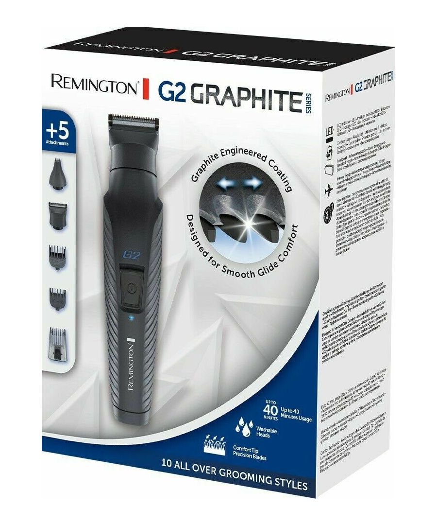 Image for Remington Graphite G2 Multi-Grooming Kit, Electric Body, Detail and Beard Trimmer, PG2000
