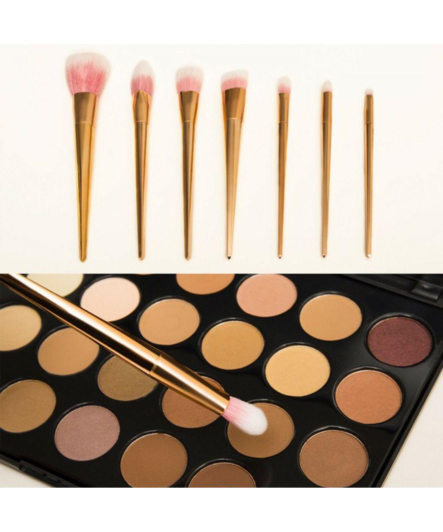 Image for Aquarius 7 Piece Rose Gold Professional Make-Up Brushes Set
