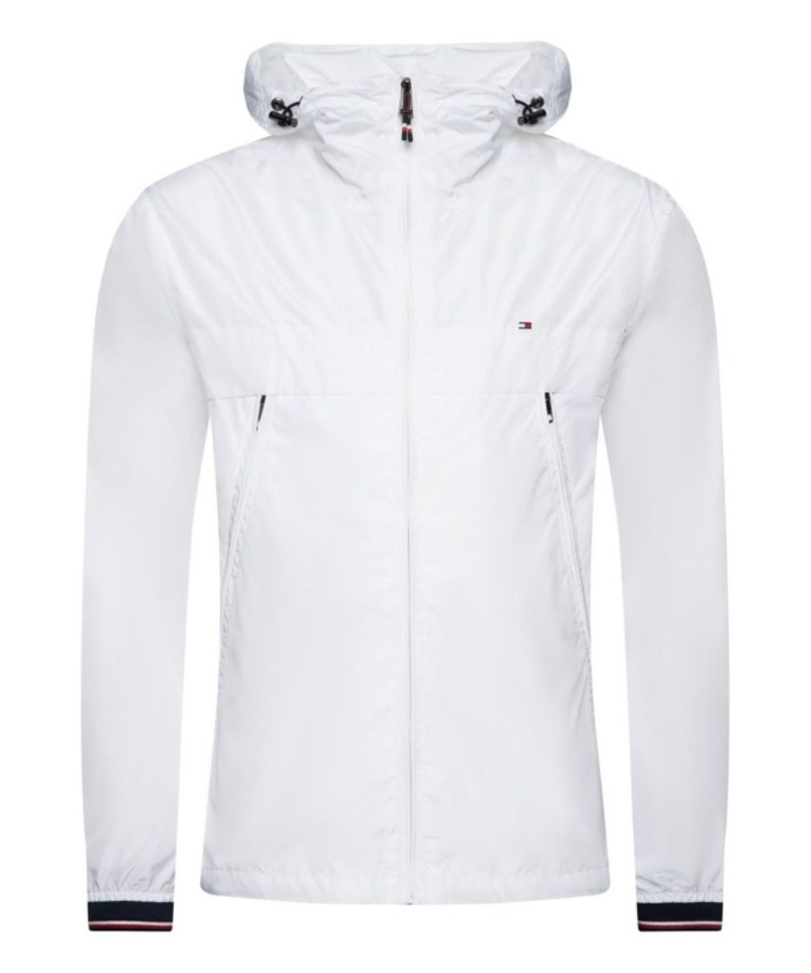 Image for TOMMY HILFIGER MEN'S MW0MW12216YBR WHITE POLYESTER OUTERWEAR JACKET