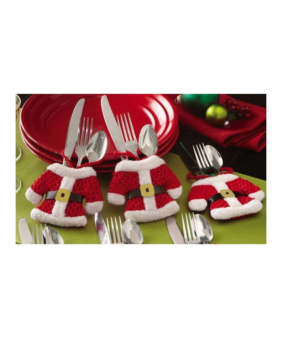 Image for Luxury Christmas Cutlery Holders Set of 2