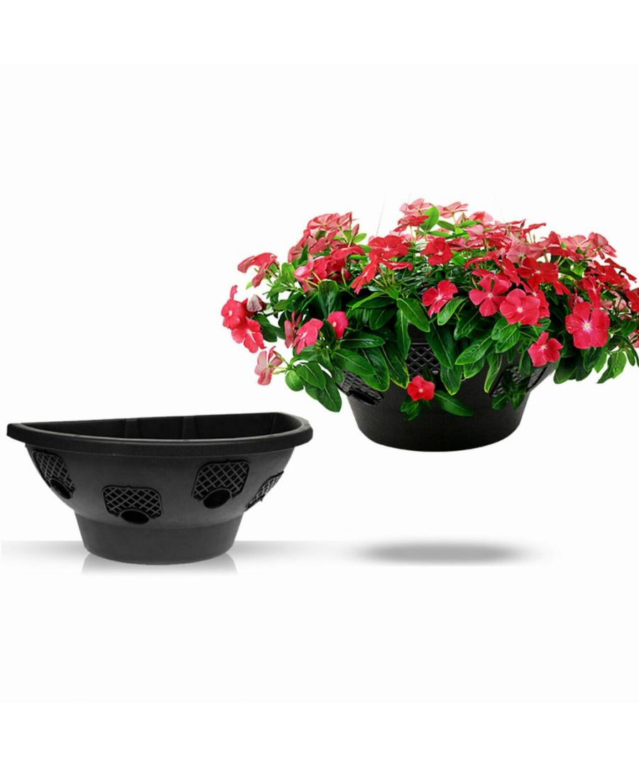 Image for Roots & Shoots Flower Floral Easy Fill Bloom Hanging Wall Basket, 18