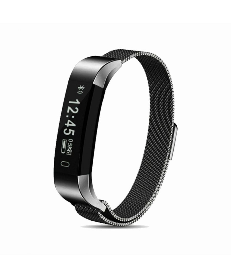 Image for Aquarius AQ115 Fitness Tracker with Milanese Strap Space Grey