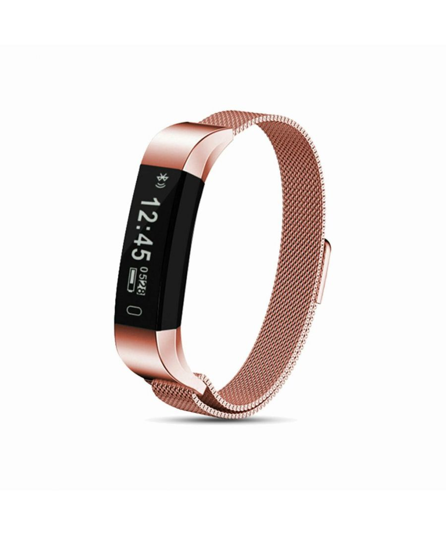 Image for Aquarius AQ115 Fitness Tracker with Milanese Strap Rose Gold