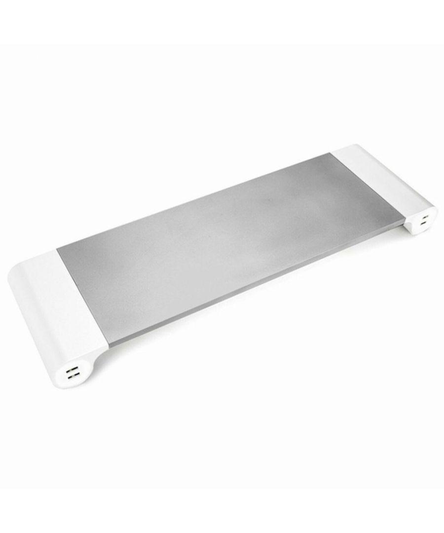 Image for Aluminium Space-Saving Desktop Organiser - Silver