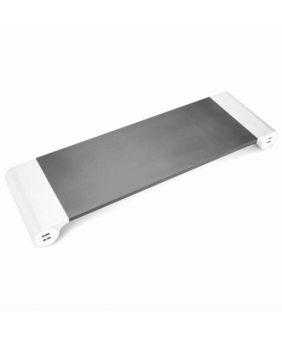 Image for Aluminium Space-Saving Desktop Organiser - Space Grey